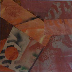 T207 collage sur toile 100x100