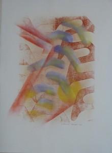 T117 palimpseste 5 papier Lana 250gr 76x56 peinture53x37 gravure aérosol