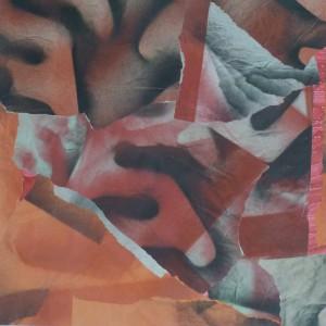 T125 collage papier sur carton 50x50