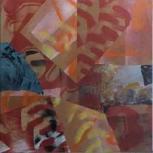 T217 Collage sur toile 100x100