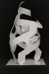 T243 sculpture acier 34x35x47